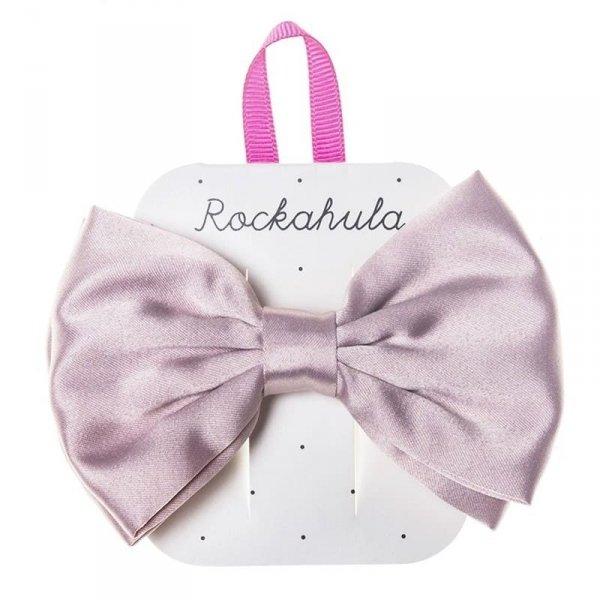 Rockahula Kids - spinka do włosów satynowa - Satin lux Double bow Pink