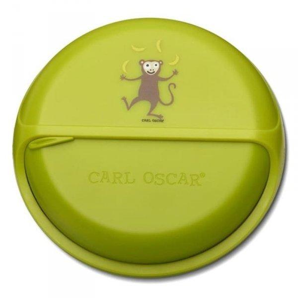 Carl Oscar BIG SnackDISC™ 5 komorowy obrotowy pojemnik na przekąski - limonkowy - Małpka