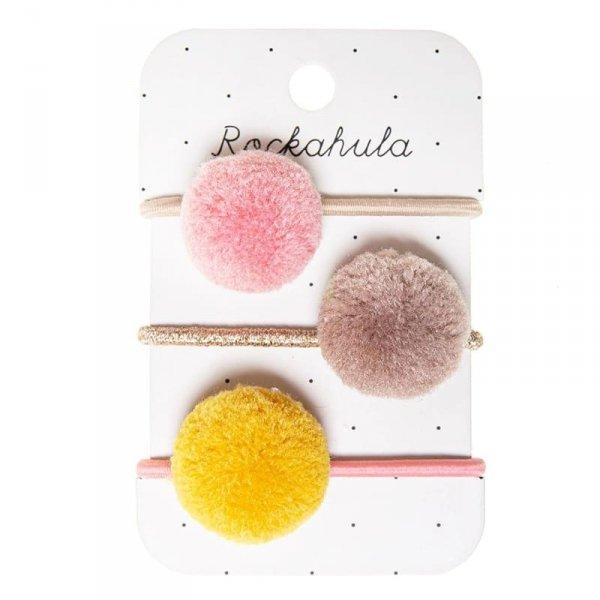 Gumki do włosów dla dziewczynki- Kolorowe Pomponiki - Rockahula Kids