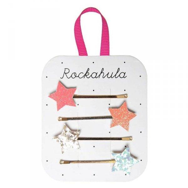 Wsuwki do włosów dla dziewczynki - Błyszczące Gwiazdki -szt.4 -Rockahula Kids