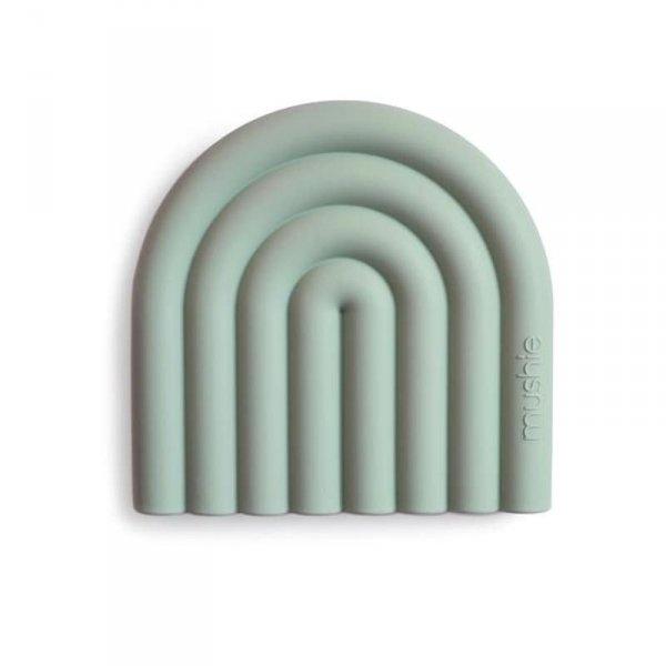 Gryzak silikonowy dla dziecka TĘCZA - Cambridge Blue - Mushie