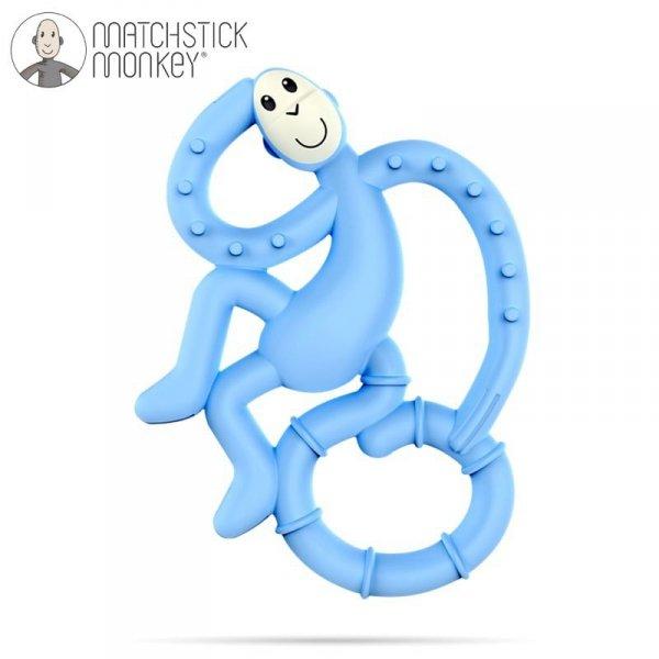 Terapeutyczny Gryzak Masujący ze Szczoteczką - jasno -  niebieski