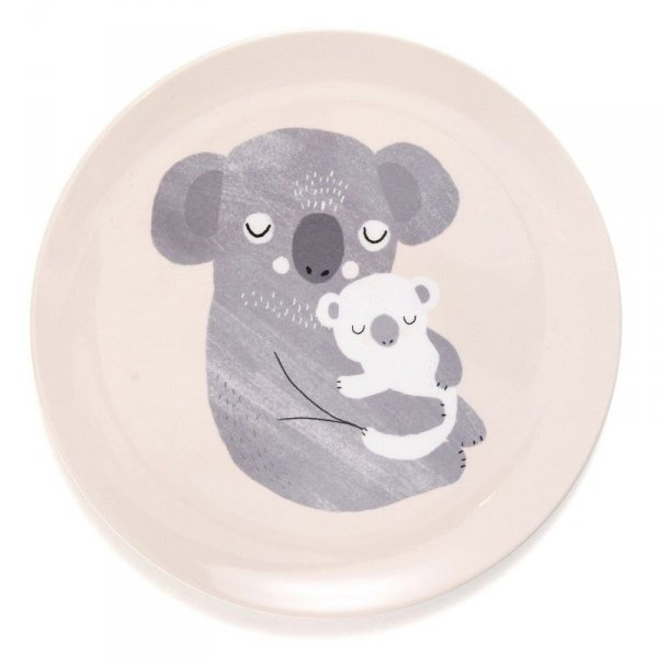 Talerz płaski z melaminy - Koala