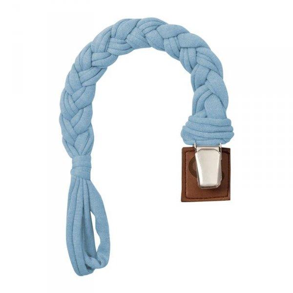 Warkoczykowa zawieszka do smoczka jasno niebieska