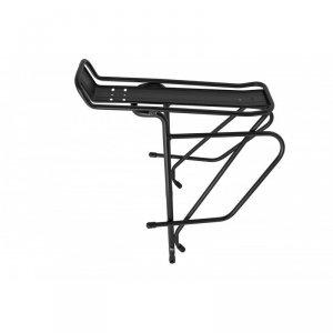 Bagażnik tylny 24-29 regulowany aluminiowy do roweru z hamulcem tarczowym, czarny