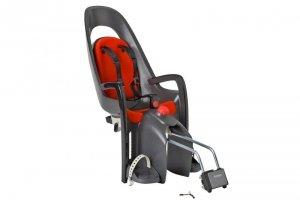 Fotelik rowerowy HAMAX Caress szaro-ciemnoszary czerwona wyściółka
