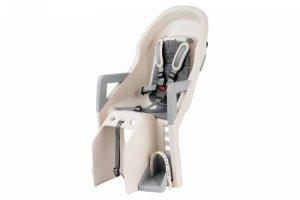 Regulowany, pochylany fotelik rowerowy dla dziecka - KROSS GUPPY RS - do ramy, beżowy