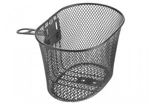 Koszyk na kierownicę dziecięcy siatka metal. HB-047-1 czarny