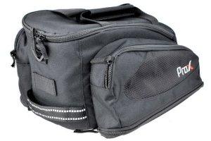 Sakwa na bagażnik PROX trzykomorowa wodoszczelna, czarna