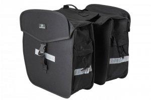Sakwa na bagażnik KANDS podwójna 36L, 35x15x33cm czarna z odblask. CB8013