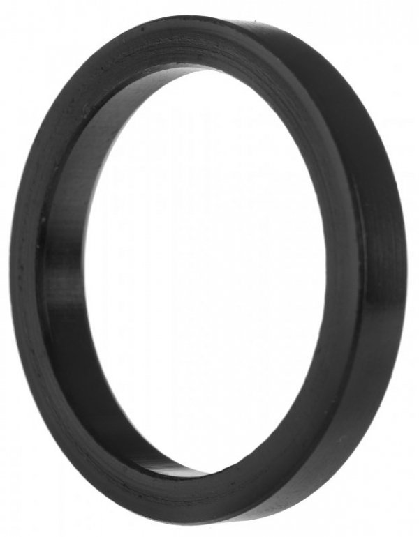 Podkładka dystansowa ACCENT sterów aluminiowa czarna 5 mm
