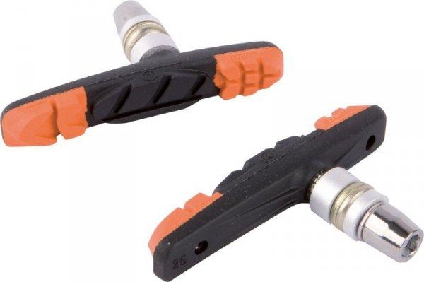 Klocki hamulcowe V-Brake ACCENT 3-Function pomar.-czarno-pomar.