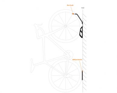 Wieszak rowerowy na ścianę IBERA ST3