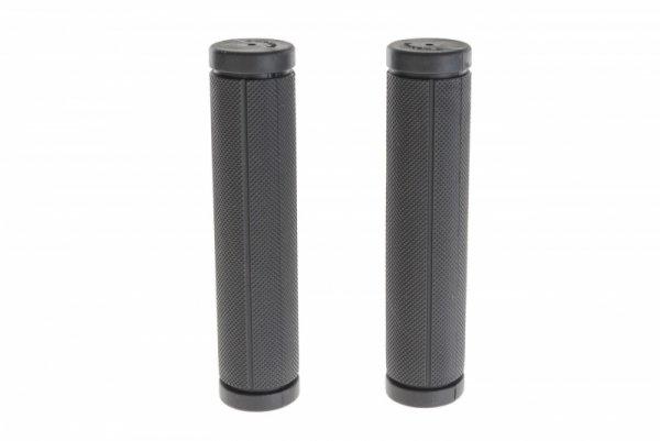Chwyty kierownicy gumowe czarne 120mm TREFL