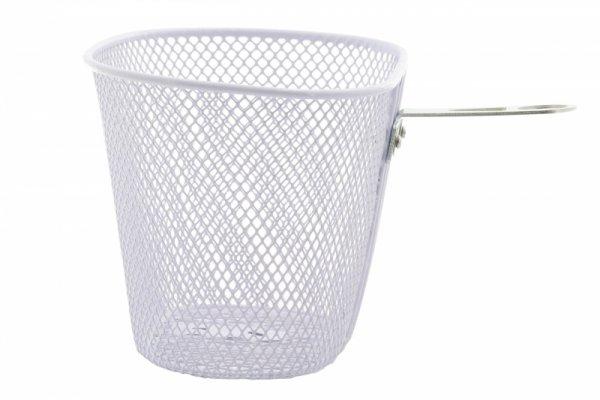 Koszyk na kierownicę dziecięcy siatka metal. HB-047-1 biały