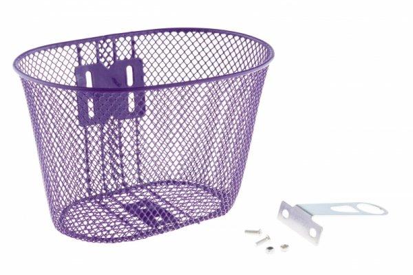 Koszyk na kierownicę dziecięcy siatka metal. fioletowy