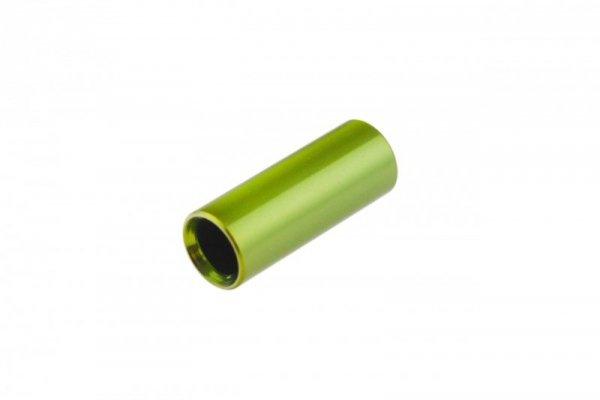 Końcówka pancerza przerzutki alum. CNC fi 4mm  zielone