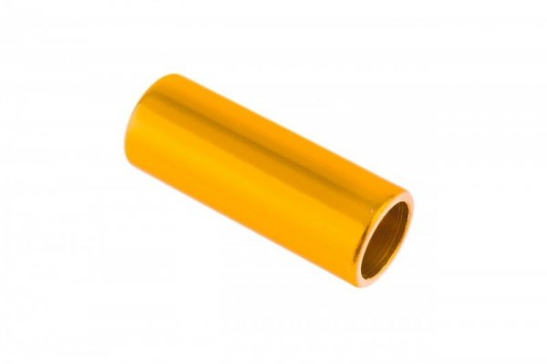 Końcówka pancerza przerzutki alum. CNC fi 4mm  złoty