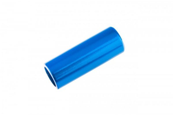 Końcówka pancerza przerzutki alum. CNC fi 4mm  niebieski
