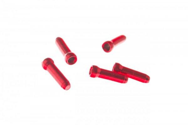 Końcówki linki hamulcowej 1,8mm JAGWIRE czerwone 5szt