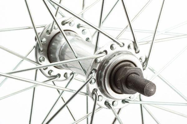 Koło 28 przód aluminiowe zwykłe, srebrne 30 mm