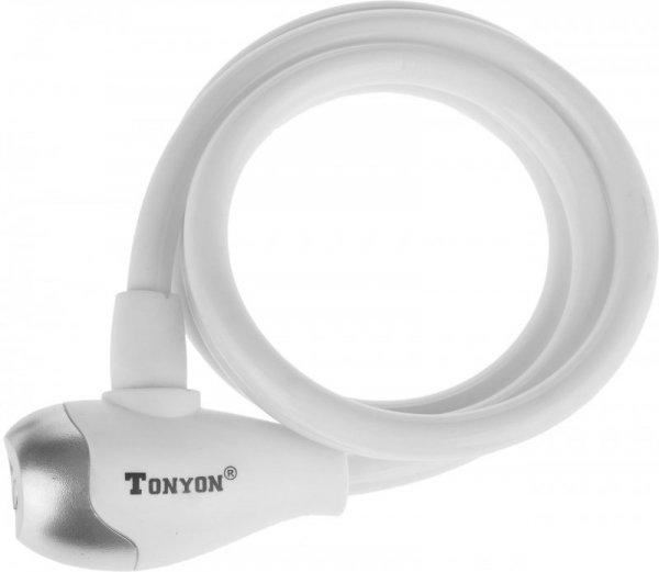 Zapięcie spiralne na klucz TonyOn TY560 10x1200mm białe