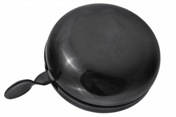 Dzwonek stalowy duży DING DONG 80mm czarny