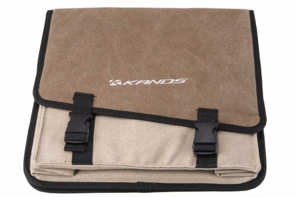Sakwa na bagażnik 2-komorowa KANDS 20L 30x30x14cm, beżowa