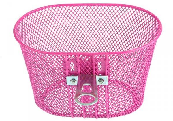 Koszyk na kierownicę dziecięcy siatka metal. HB-047-1 różowy