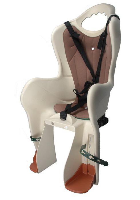 Fotelik rowerowy dla dziecka ELIBAS na bagażnik - beżowy