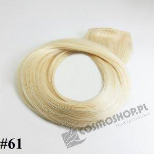 Pasmo clip-in, długość 40 cm kolor #61 - LODOWY BLOND