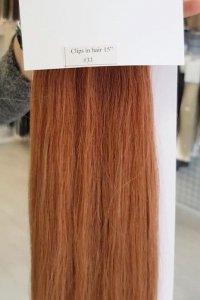 Zestaw Clip-in, długość 40 cm kolor #33 - Burgundowa czerwień