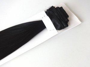Syntetyczny zestaw Clip-in, długość 45 cm kolor #1B - BARDZO CIEMNY BRĄZ