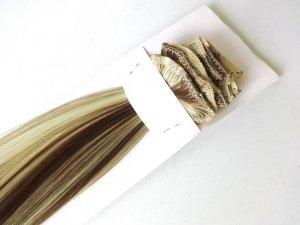 Syntetyczny zestaw Clip-in, długość 45 cm kolor balejaż #6/613
