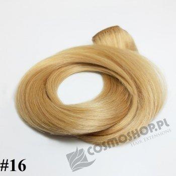 KUCYK CLIP IN- ZŁOCISTY BLOND #16, 30 cm