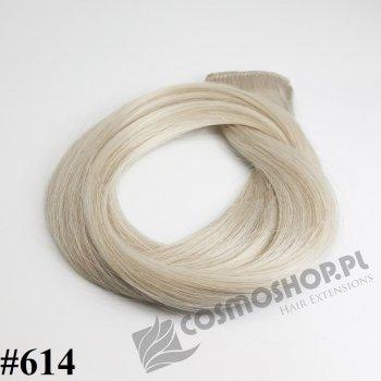 Pasmo Clip-in, długość 55 cm kolor #614 -BARDZO JASNY BLOND POPIELATY