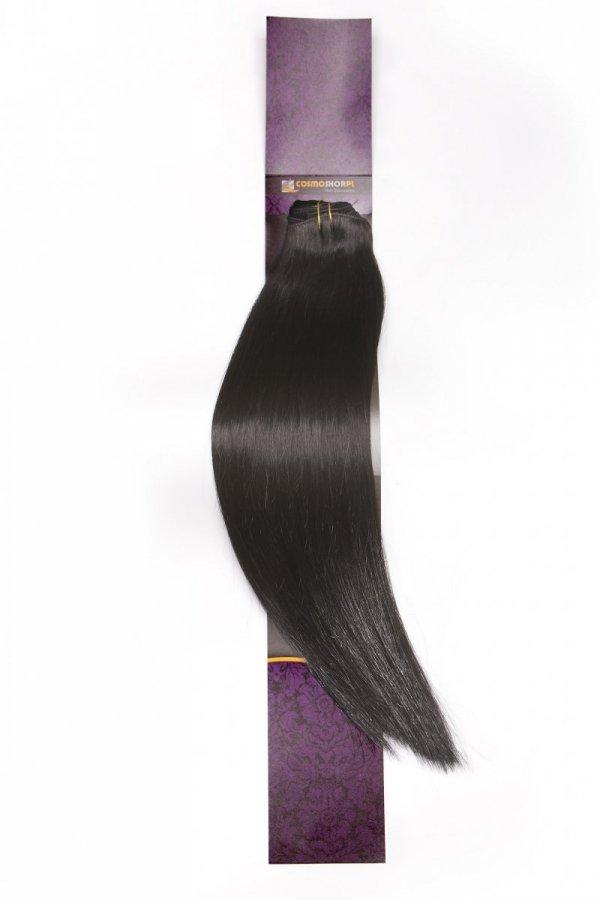 Zestaw Clip-in, długość 55 cm kolor #01 -GŁĘBOKA CZERŃ 220g