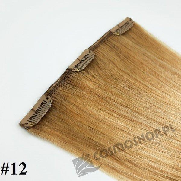 Pasmo Clip-in, długość 40 cm kolor #12 -NATURALNY CIEMNY BLOND