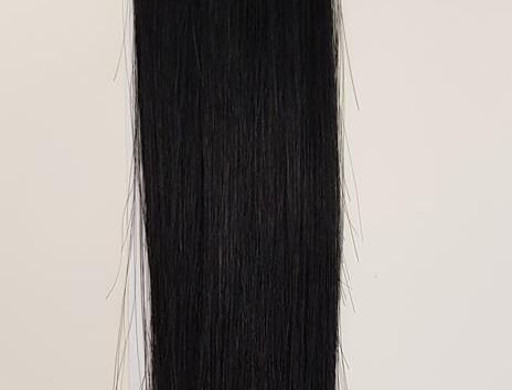 Zestaw włosów pod mikroringi, długość 55 cm kolor #01 - GŁĘBOKA CZERŃ