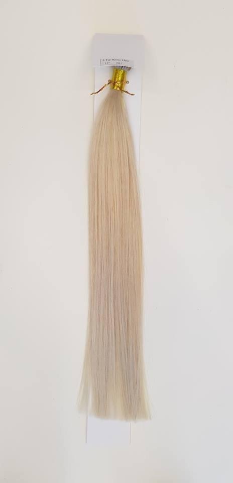 Zestaw włosów pod mikroringi, długość 40 cm kolor #61 - LODOWY BLOND