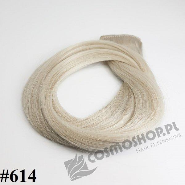 KUCYK CLIP IN- JASNY POPIELATY BLOND #614, 45 cm