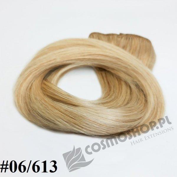 Zestaw Clip-in, długość 40 cm kolor balejaż #06/613 -JASNY BRĄZ / JASNY BLOND