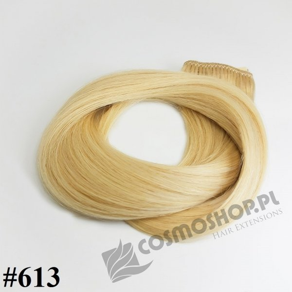 Zestaw Clip-in, długość 45 cm kolor #613 - JASNY BLOND, 150g