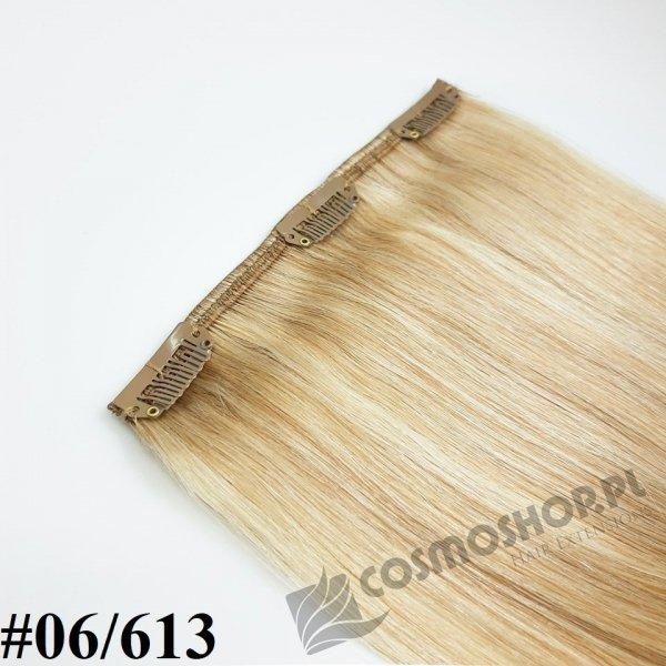 Zestaw Clip-in, długość 45 cm kolor balejaż #06/613 -JASNY BRĄZ / JASNY BLOND, 150g