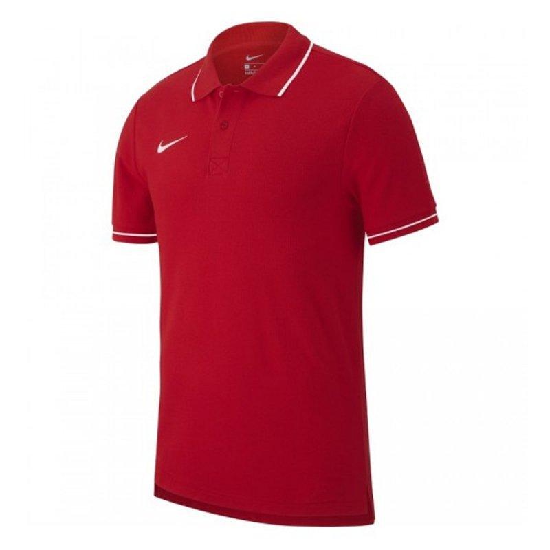 Koszulka Nike Polo Y Team Club 19 AJ1546 657 czerwony M (137-147cm)