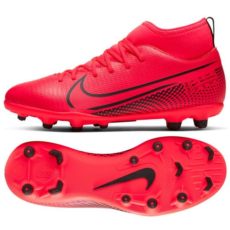 Buty Nike JR Mercurial Superfly 7 Club FG/MG AT8150 606 czerwony 36