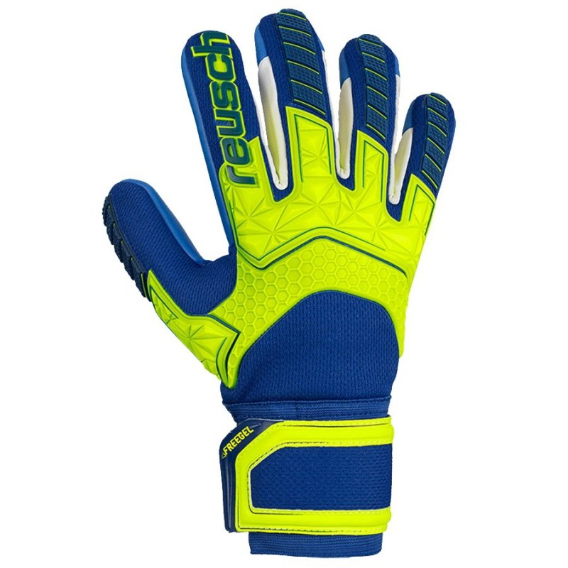 Rękawice bramkarskie Reusch Attrakt Freegel S1 Finger Support LTD 50 70 261 2199 niebieski 9