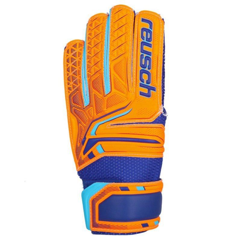 Rękawice bramkarskie Reusch Attrakt SD Open Cuff Junior 50 72 515 2290 pomarańczowy 5