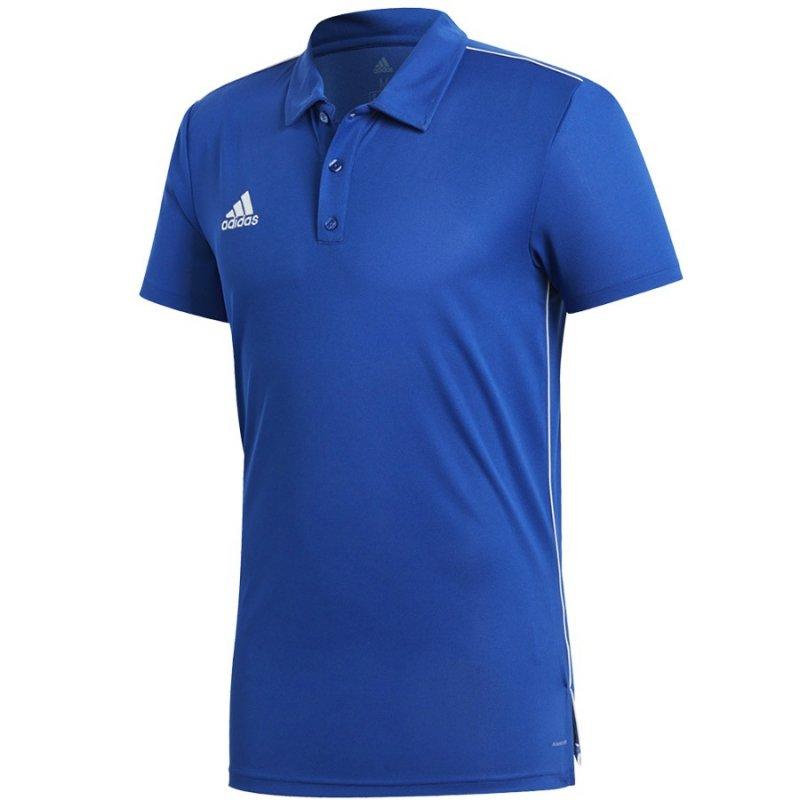Koszulka adidas Polo Core 18 CV3590 niebieski M