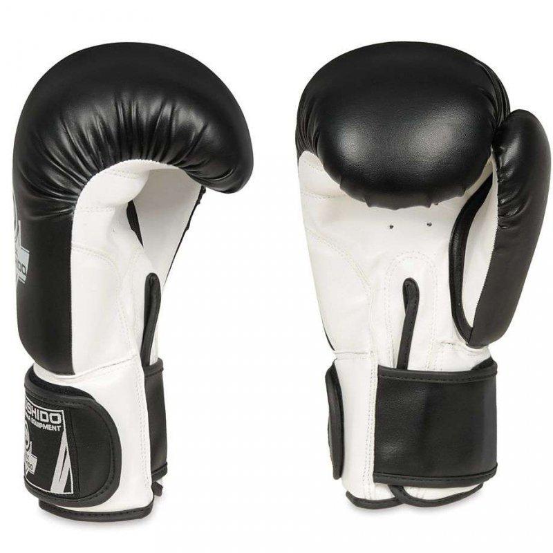Rękawice Bokserskie  Sparingowe Czarno - Białe  DBX BUSHIDO 10 OZ - 12 OZ